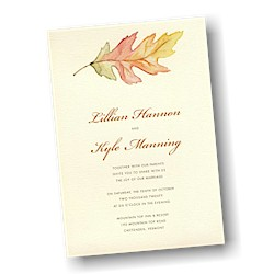 A Painted Leaf Wedding Invitation
