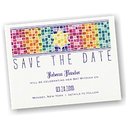 Marvelous Mosaic Save the Date Card